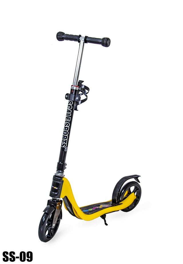 Детский самокат Scale Sports SS-09. Черно-жёлтый