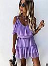 Короткое легкое платье с открытыми плечиками, фото 2