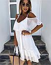 Короткое легкое платье с открытыми плечиками, фото 3
