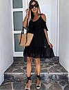 Короткое легкое платье с открытыми плечиками, фото 5
