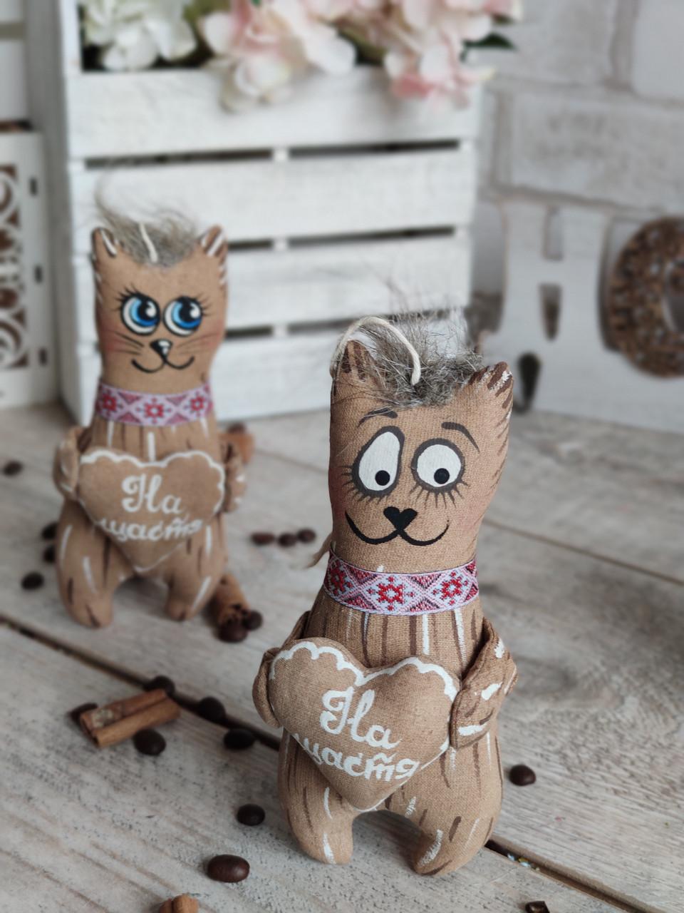 Кот с пожеланиями, кот кофе, какао, корица, 16*9 см, 65/85 (цена за 1 кота. + 20 гр.)