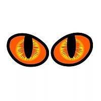 """Наклейка на машину, виниловые наклейки, украшения зеркал авто, наклейка на стекла """"глаза кота"""" 2шт 10см*8см"""