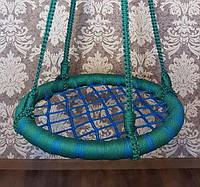 """Качели """"гнездо аиста"""", сине-зеленая, 75см"""