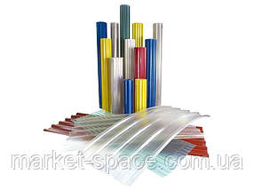 """Пластиковый шифер прямой """"Волнопласт"""". Цвет: прозрачный. Размер рулона: Д:20м*Ш:2м=40 кв.м, фото 3"""