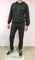Мужской спортивный трикотажный костюм Nike размеры 48-54 норма на манжете ростовка тёмно-серый