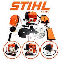 """Мотокоса STIHL FS 490 (5,3 кВт, 2х тактный) Комплектация """"ЭКО"""". Бензокоса Штиль, кусторез, триммер"""