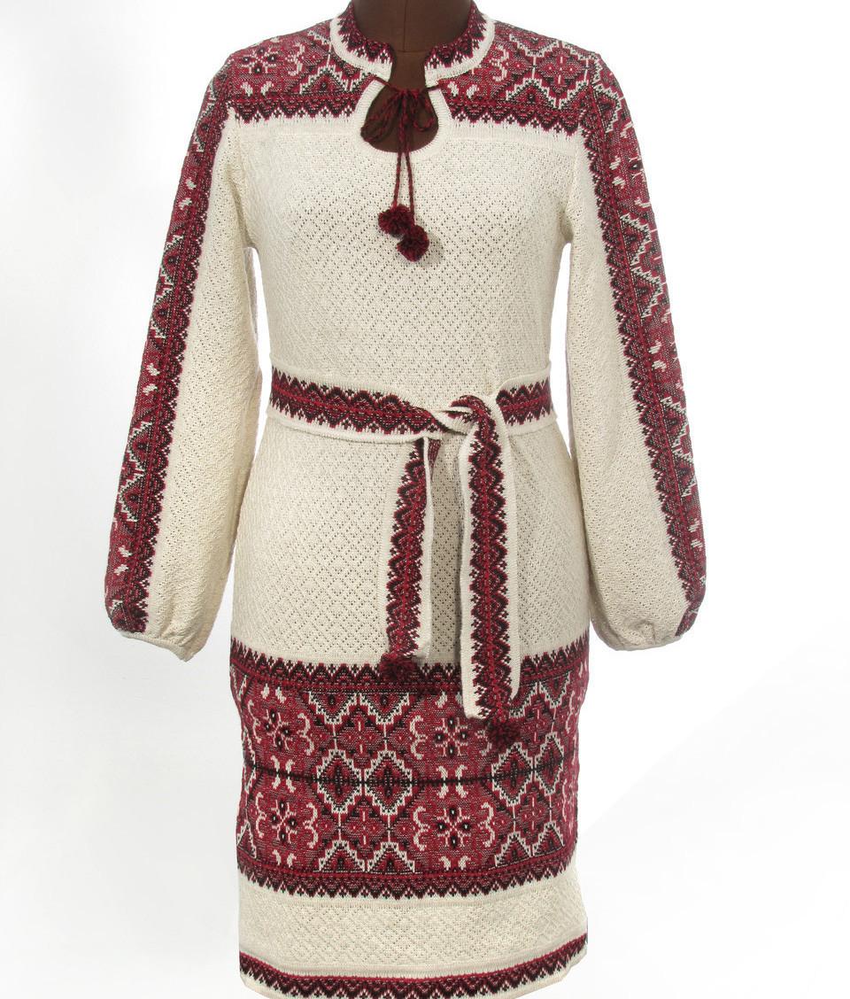 Женское платье - вязка Орнамент