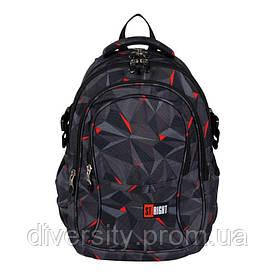 "Подростковый школьный рюкзак BP-01 ""3D BLACK ABSTRACTION""  ST.RIGHT 626371"