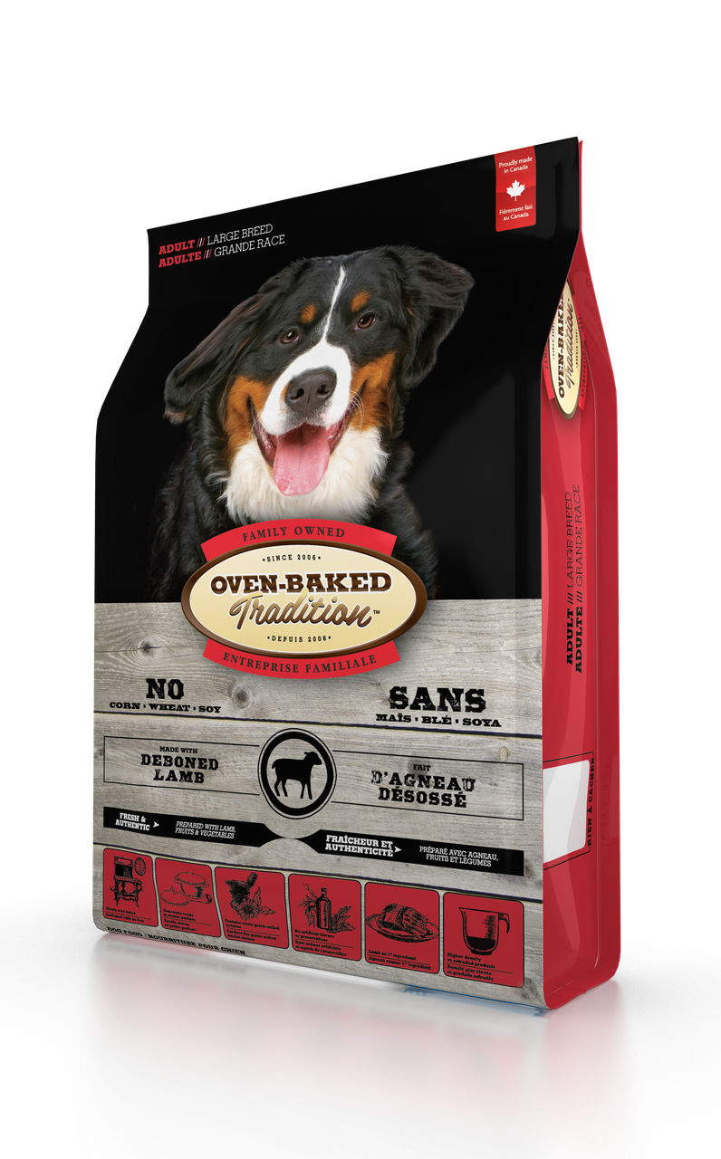 Oven-Baked Tradition сухой корм для собак больших пород со свежего мяса ягненка 11.34 кг.