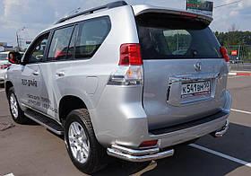 Защита заднего бампера уголки двойные Can Oto для Toyota Land Cruiser 150