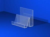 Пластиковая подставка под визитки на 2 отдела