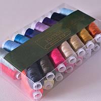 Нитки швейная армированная / цвет микс / упаковка 30 бобин (200 м в бобине)