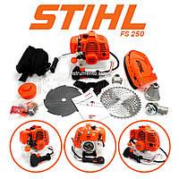 """Мотокоса STIHL FS 250 (3,5 кВт, 2х тактный) Комплектация """"ЭКО"""". Бензокоса Штиль, кусторез, триммер"""
