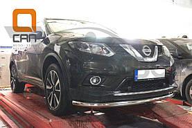 Защита переднего бампера Nissan X-Trail (2014-) (одинарная) D60