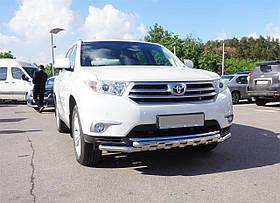 Защита переднего бампера двойная с защитой картера Can oto для Toyota Highlander 2010-2014