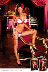 Комплект White-Red Frilled Bikini Set