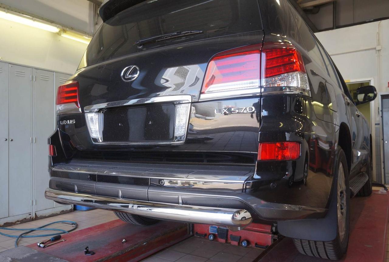 Защита заднего бампера Lexus LX570 Sport 2013+ (одинарная) d 76