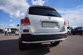 Захист заднього бампера труба Can oto для Toyota Highlander 2010-2014