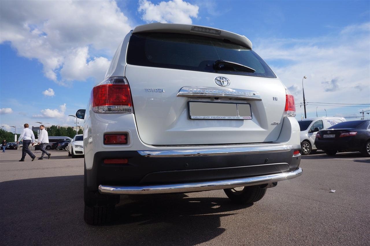 Защита заднего бампера труба Can oto для Toyota Highlander 2010-2014