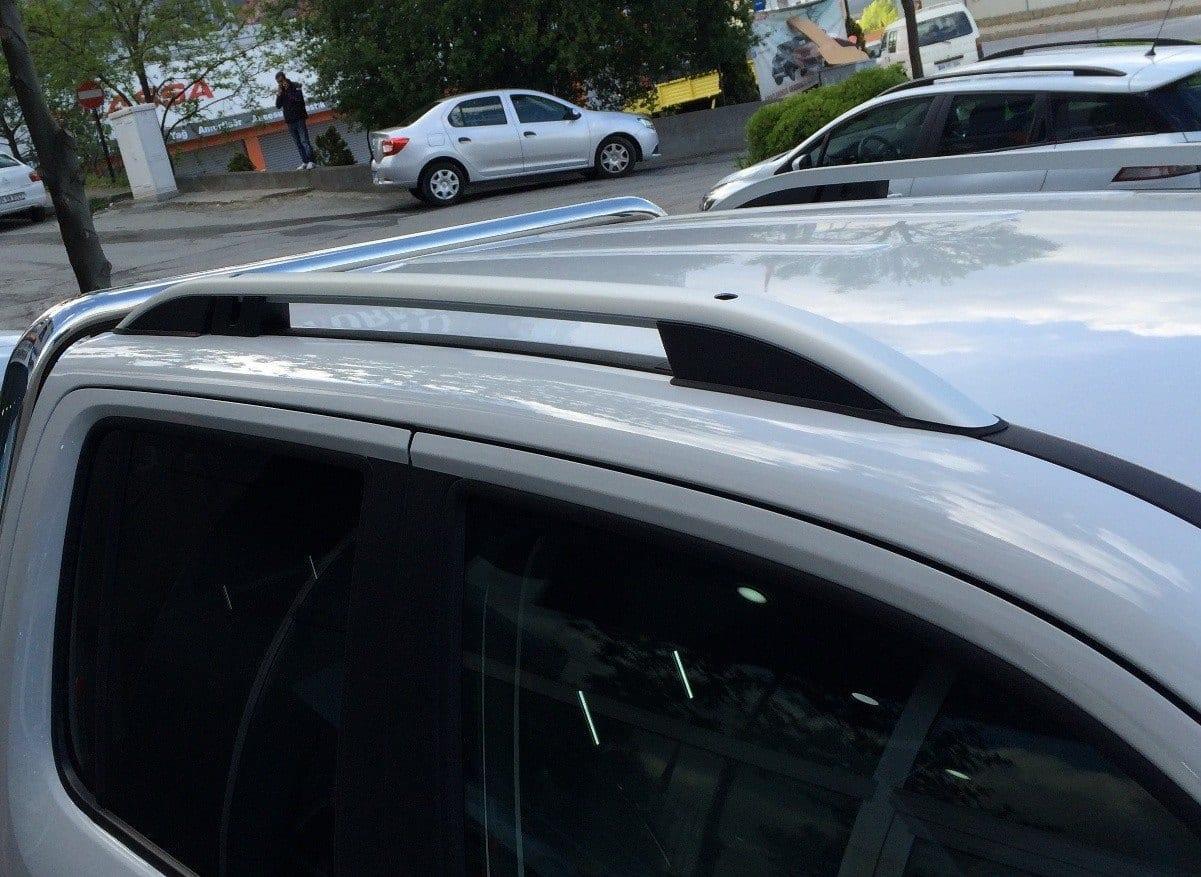 Рейлинги на крышу Can Otomotiv для VW Amarok 2010+ Crown серебро