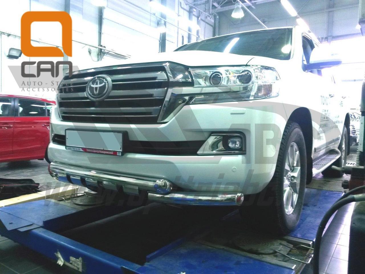 Защита переднего бампера Toyota Land Cruiser (Тойота Ленд Круизер) 200 2015+ (Shark) d 70