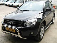 Кенгурятник дуга передняя с грилем Can otomotiv для Toyota Rav 4 06-10