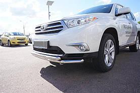 Защита переднего бампера двойная Can oto для Toyota Highlander 2010-2104