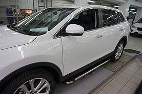 Пороги подножки боковые Can Oto Brillant Black для Toyota Highlander 2010-2013