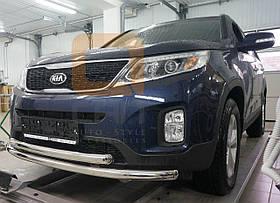 Захист переднього бампера подвійна Can oto для Kia Sorento 2013-2015