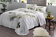 Комплект постельного белья с пике Tac Juno V01 yesil полуторный зеленый