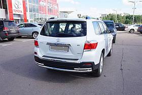 Защита заднего бампера с уголками Can oto для Toyota Highlander 2010-2014