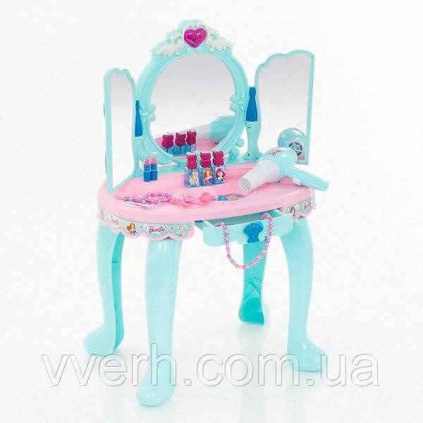 Игрушечный салон красоты, детское трюмо с музыкальными эффектами, детская косметика и фен