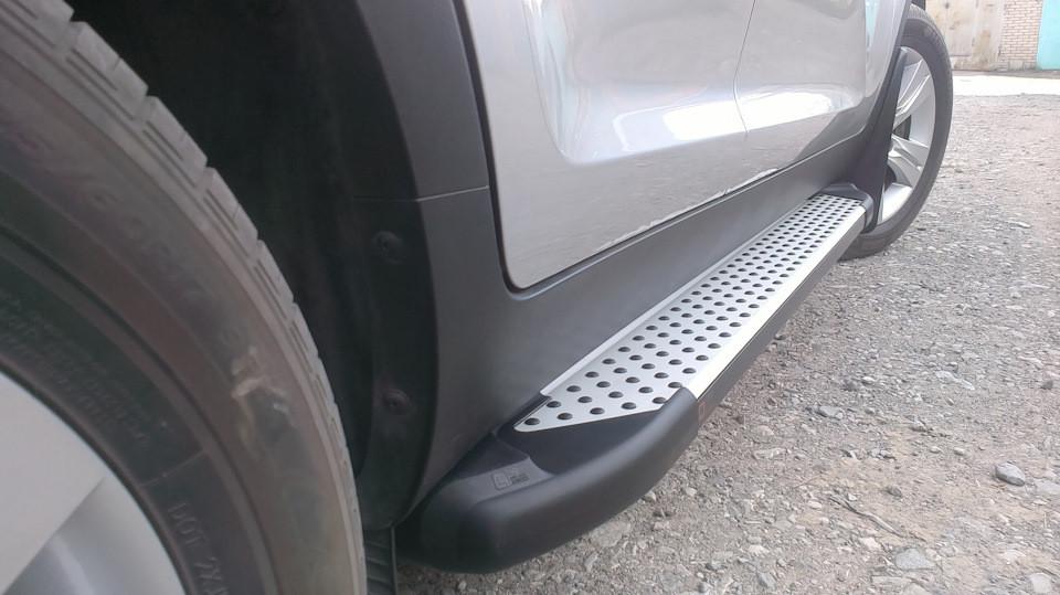 Пороги боковые Can otomotiv стиль BMW для Nissan Murano 2009-2016
