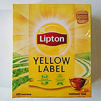 Чай Липтон Lipton Yellow label 100 пакетиков