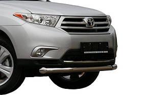 Защита переднего бампера Toyota Highlander (Тойота Хайлендер) (2010-2013) (одинарная) d 60