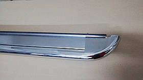 Бічні пороги майданчиком для Peugeot Expert 2007-2017 (2шт, нерж) 51 мм, коротка база