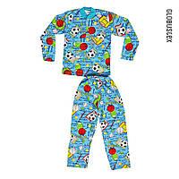 Пижама детская для девочки и мальчика, кулир,  размер - 30, рост 110-116
