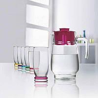 Набор высоких разноцветных стаканов Luminarc Rainbow Cortina 330 мл 6 шт (J3138)