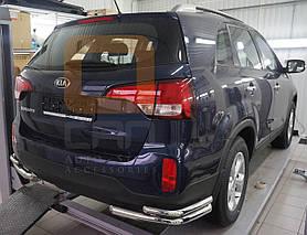 Захист задня куточки подвійні Can oto для Kia Sorento 2013-2015