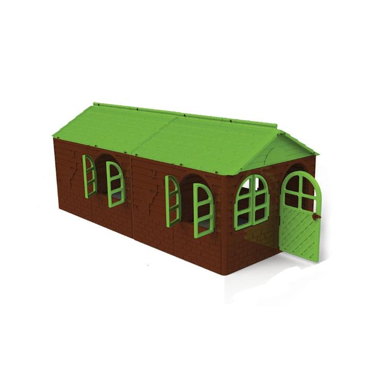 Будиночок зі шторками, коричнево-зелений, 02550/24