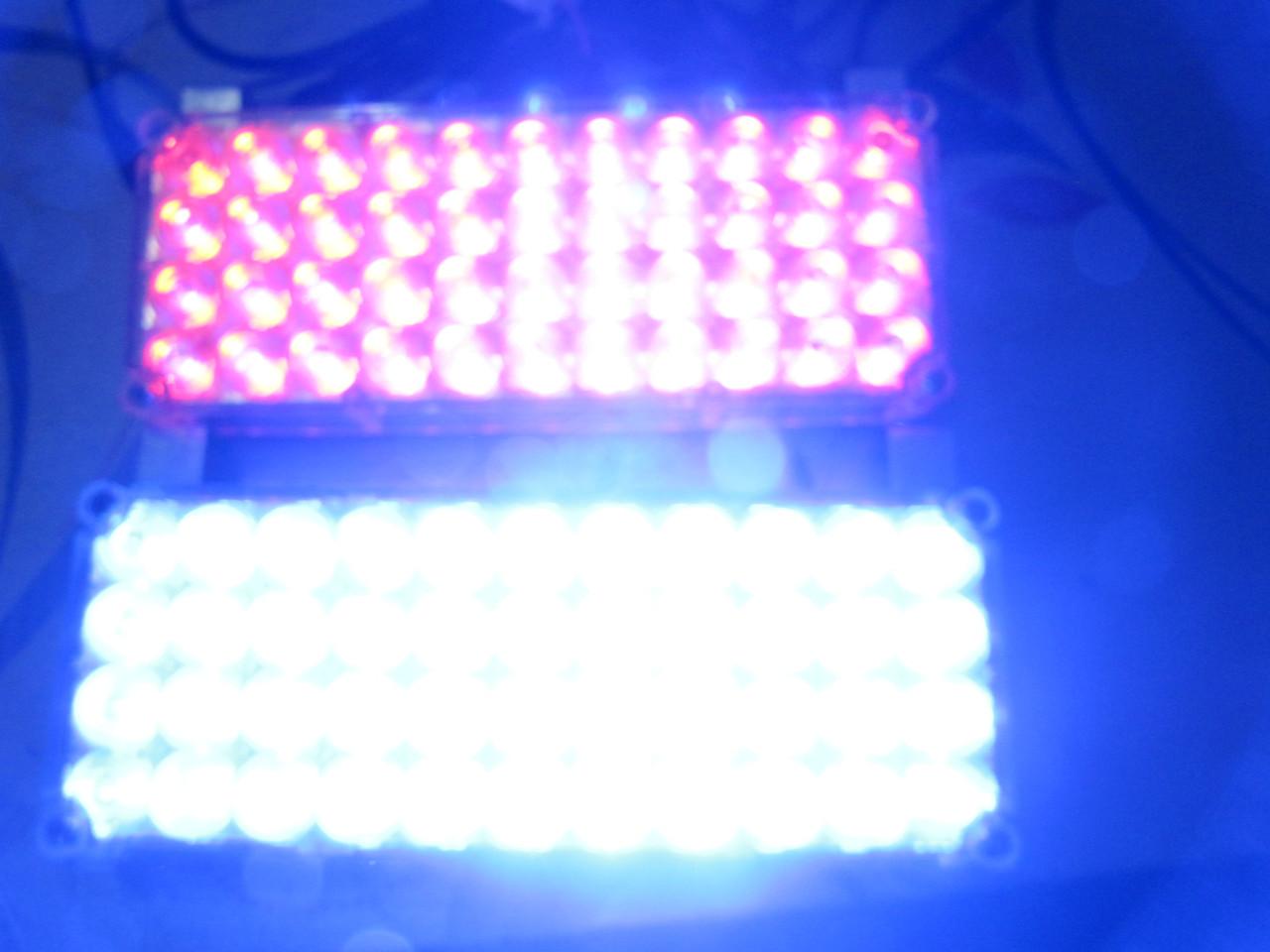 Стробоскопы в решетку авто Led 2-44 красно/синие 12-24В. https://gv-auto.com.ua