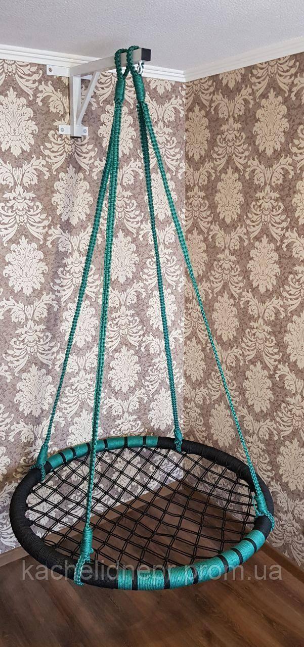"""Качели """"гнездо аиста"""", черно-зеленая, 120см"""