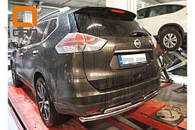 Защита заднего бампера Nissan X-Trail (2014-) (двойная) d 60/42
