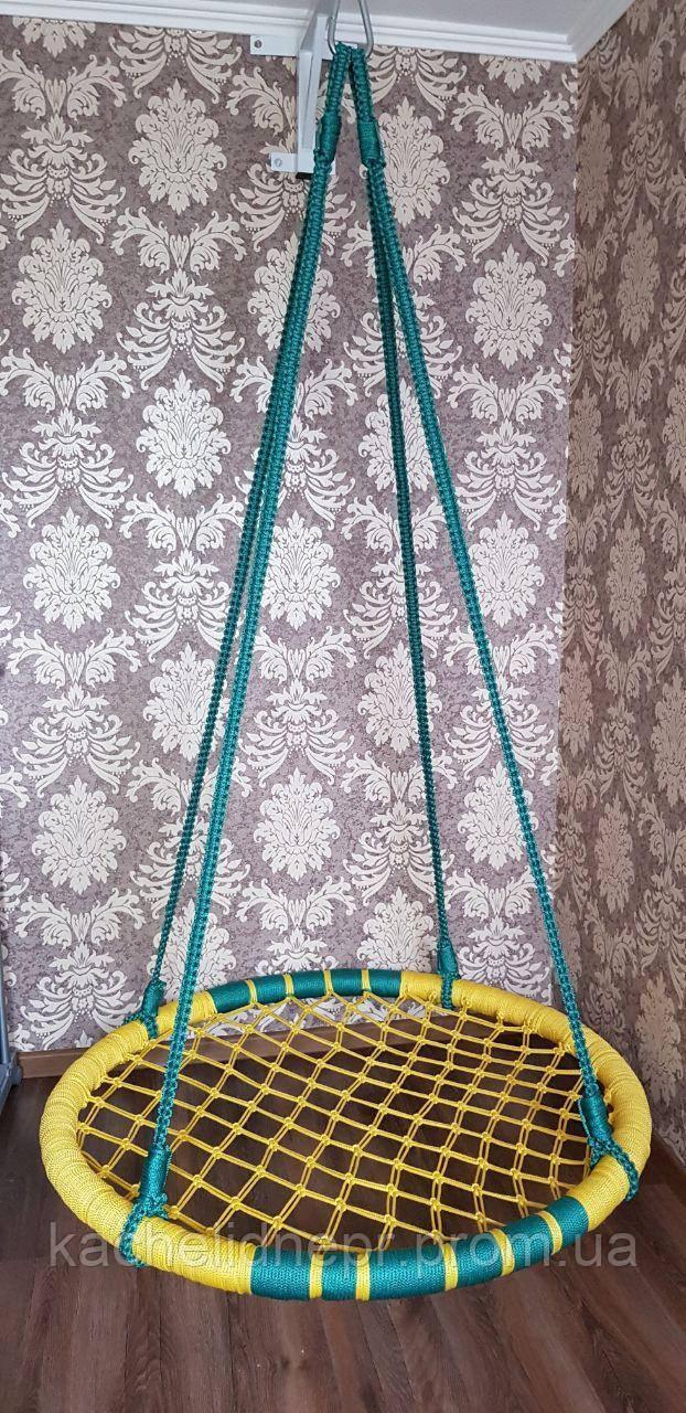 """Качели """"гнездо аиста"""", желто-зеленая, 120см"""
