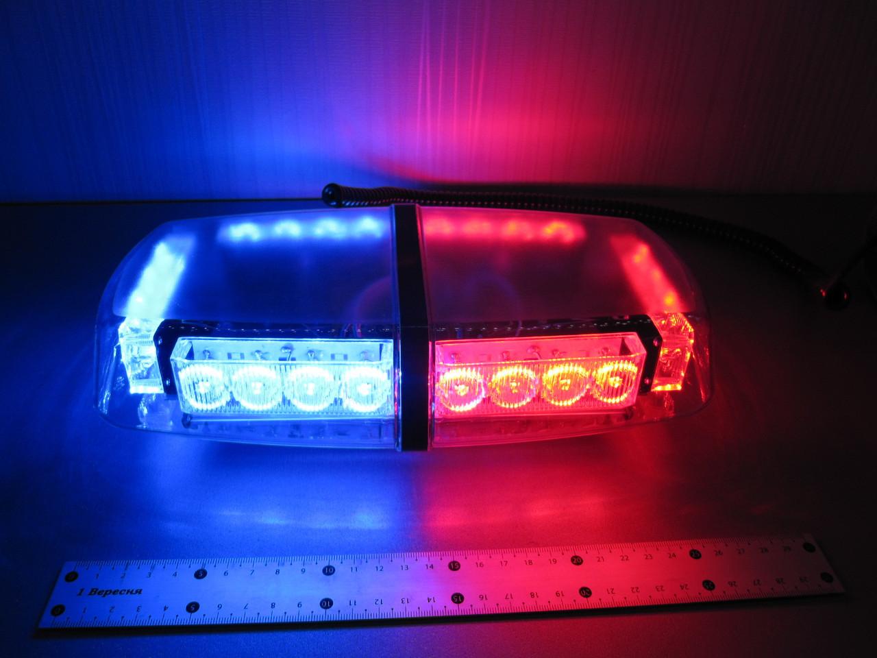 Световая панель LED - 650, мигалка красно - синяя 12-24В. https://gv-auto.com.ua
