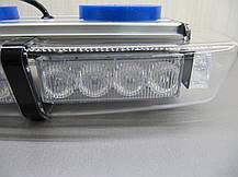 Световая панель LED - 650, мигалка красно - синяя 12-24В. https://gv-auto.com.ua, фото 2