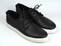 Чоловіче взуття великих розмірів батальна кросівки шкіряні чорні кеди Rosso Avangard Slipy Black&White BS, фото 1
