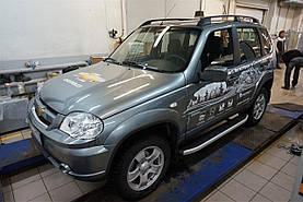 Пороги алюминиевые для Chevrolet Niva 2008+