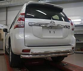 Защита заднего бампера Toyota Land Cruiser 150 (2009-2013/2013+) (двойная) d 60/60