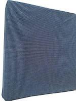 Натяжной чехол на диван Фактура вязка джинсовый цвет